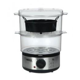 Nesco ST-25F Food Steamer, 400 Watt, 5 Qt, BPA Free