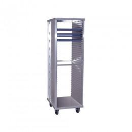 New Age 1291 Enclosed Bun Pan Rack 1.5 Space 40 Pan Capacity No Doors