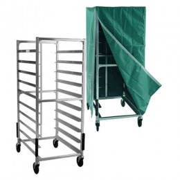 New Age 96004C Room Service Cart, Double Wide 12 Pan Capacity