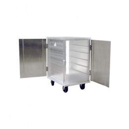 New Age 97655 Enclosed Room Service Cart 5.5in Spacing 12 15in x 20in