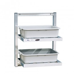 New Age 98213 Two Tier Bus Shelf 48