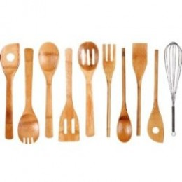 Neway International 10-Piece Bamboo Utensil Set