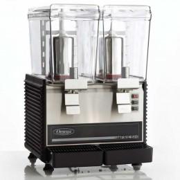Omega OSD20 Two 3 Gallon Bowls Beverage Dispenser Black 110V