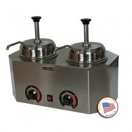 Paragon 2029B Pro-Deluxe #10 Can Warmer Dual Unit Non Heated Spout