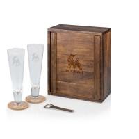 Picnic Time 602-06-512-153-3 Miami Marlins Pilsner Beer Gift Set for 2