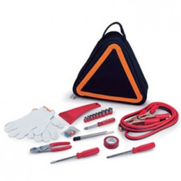Picnic Time Emergency Road Kit Triangular Tote with Components