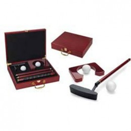 Picnic Time Ace Executive Travel Putter Set in Cherry Wood Case