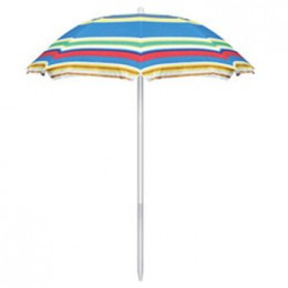 Picnic Table Umbrella w/ Tilt Adjustment - Multicolor Stripes