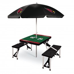 Arizona Cardinals Picnic Table Sportw/Umbrella