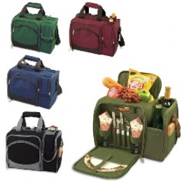 Picnic Time 508-23-123 Malibu Insulated Cooler w/ Picnic Service for 2