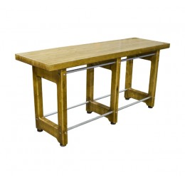 Plymold 2809642RCTS Rustic Community Table 8'L x 42