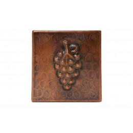 Premier Copper T4DBG 4in x 4in Copper Grape Tile