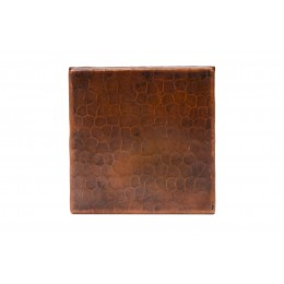 Premier Copper T4DBH 4in x 4in Hammered Copper Tile
