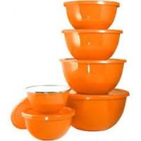 Reston Lloyd 12pc Enamel on Steel Bowl Sets - Orange