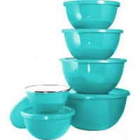 Reston Lloyd 12pc Enamel on Steel Bowl Sets - Turquoise