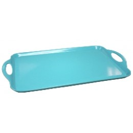 Reston Lloyd Rectangular Melamine Tray - Turquoise