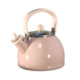 Reston Lloyd 60601 Whistling Tea Kettles w/Glass Lid 2.5 Qt Pink
