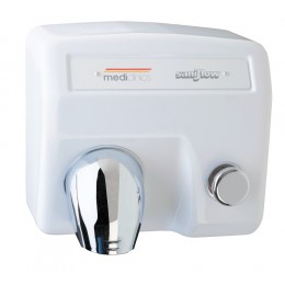 Saniflow E85 Push-Button Hand Dryer Cast Iron White