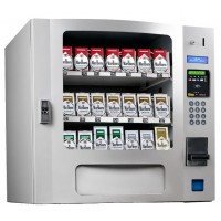 Seaga SM16S CIG Countertop 24 Select Cigarette Vending Machine with Coin Bill Silver