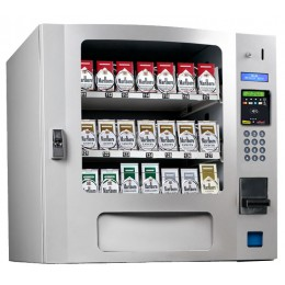 Seaga SM16S CIG Countertop 24 Select Cigarette Vending Machine with Coin Bill Credit Card Silver