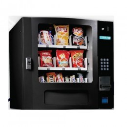 Seaga SM16SB Countertop 16 Select Snack Vending Machine with Coin Bill Black