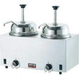 Server 81230 Twin Fudge Hot Topping Food Warmer w/ Pumps