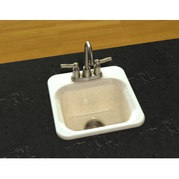 SONG S-8280-1-70 Calypso Self-Rimming Entertainment 1 Hole Sink White