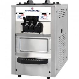 Spaceman 6235AH Soft Serve Counter Machine with Air Pump 2 Hoppers