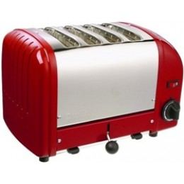 Dualit 40417 Classic 4-Slice Toaster Red