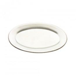 Tomlinson 1006359 Solid Cast Aluminum Oval Dinner Platter 7 x 10 24CS