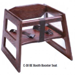 Tomlinson C-30BE W Booth Booster Seat Walnut Finish