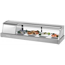 Turbo Air SAKURA-50-L Sakura Refrigerated Sushi Case 4 ft Long, Left Mounted Compressor