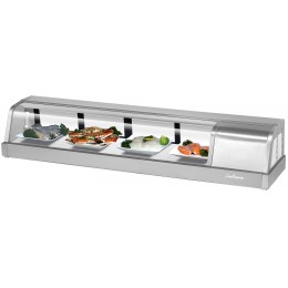 Turbo Air SAKURA-60-R Sakura Refrigerated Sushi Case 5 ft Long, Right Mounted Compressor