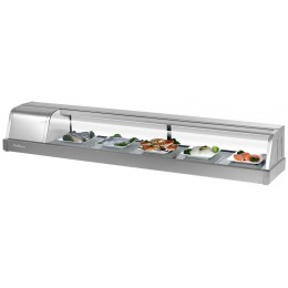 Turbo Air SAKURA-70-L Sakura Refrigerated Sushi Case 6 ft Long, Left Mounted Compressor