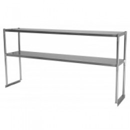Turbo Air TSOS-5 Stainless Steel Double Overshelf 5'