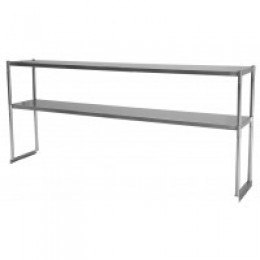 Turbo Air TSOS-6 Stainless Steel Double Overshelf 6'