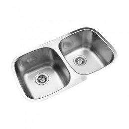 UKINOX D345.50.50.9 Under Double Bowl Stainless Steel Kitchen Sink
