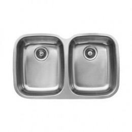 UKINOX D376.50.50.10 Under Double Bowl Stainless Steel Kitchen Sink