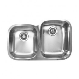 UKINOX D376.60.40.10L Under Double Bowl Stainless Steel Kitchen Sink