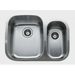 UKINOX D376.70.30.10L Under Double Bowl Stainless Steel Kitchen Sink