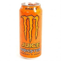Monster Khaos Energy and Juice, 16 oz Each, 24 Cans Total