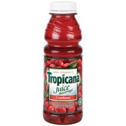 Tropicana Cranberry Cocktail, 10 oz Each, 24 Bottles Total
