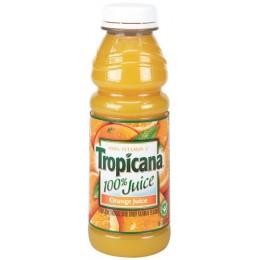 Tropicana 100% Orange Juice, 15.2 oz Each, 12 Bottles Total
