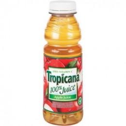 Tropicana 100% Apple Juice, 15.2 oz Each, 12 Bottles Total