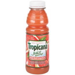 Tropicana Ruby Red Grapefruit Juice, 15.2 oz Each, 12 Bottles Total