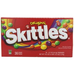 Skittles Original, 2.17 oz Each, 10 Boxes of 36 Packs, 360 Total