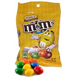 M & M's Peanut Peg Bags, 5.3 oz Each, 12 Bags Each