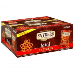 Snyders Mini Fat Free Pretzels, 1.5 oz Each, 60 Bags Total