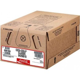Coca Cola Classic Frozen Carbonated Beverage Bag In Box Syrup, 5 Gallons