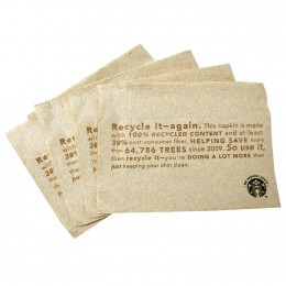 Starbucks We Proudly Serve Napkins, 6000 Total